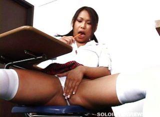 Horny Asian Schoolgirl Masturbates In Class