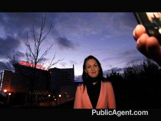 Publicagent - Black Haired Babe Fucks Hard
