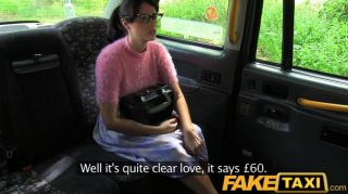Faketaxi - Brunette With Glasses Gets Nailed