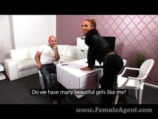 Femaleagent - Casting Creampie For Sexy Agent
