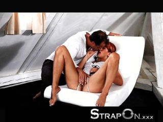 Strapon - Mature Guy Dp Young Babe