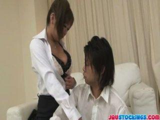 Busty And Sexy Teacher Hiyoko Morinaga Tittie Fucking
