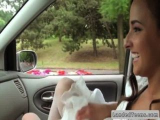 Euro Bride Giving Handjob In Car Pov