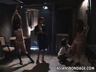 Sweet Asian Teens Tied-up And Toyed