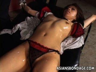 Ravishing Japanese Brunette Enjoys Smutty Bondage Sex