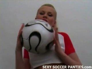 Pretty Polish Football Babe Taking Off Her Uniform