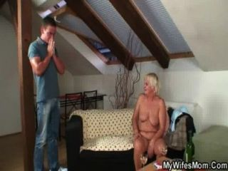 Horny Granny Seduces Son In Law