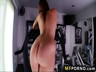 Shae Snow Works Out And Fucks Gym Equipment 2