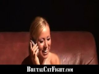 Two Sluts Brutal Catfights Because Of A Noisy Phone Call