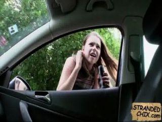Stranded Teen Babe Fucks For Ride Home Marina Visconti.1