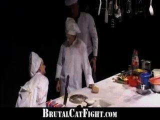 Sluts Catfight And Dirty Fuck In The Kitchen
