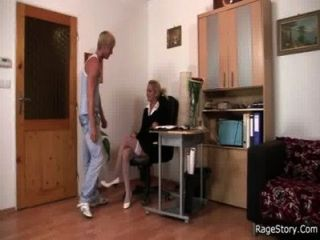 He Fucks His Gf Rough Right In The Office