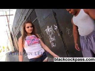 Nasty Little Black Cock Whore With Nigga Gang