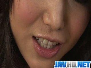 Sweet Megumi Shino Finger Fucking In A Raw Solo