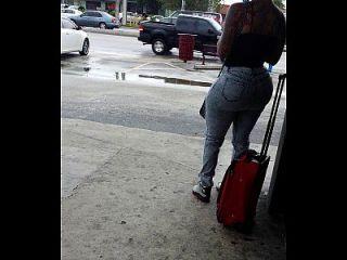 Big Booty At Bus Stop