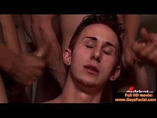 Bukkake Gay Boys - Nasty Bareback Facial Cumshot Parties 10
