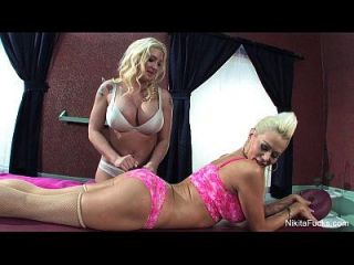 Nikita Von James & Leya Falcon Massage Fuck