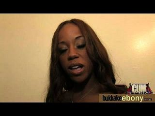 Ebony Babe Sucks Too Many White Cocks 28