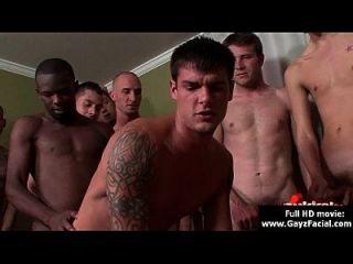 Bukkake Gay Boys - Nasty Bareback Facial Cumshot Parties 14