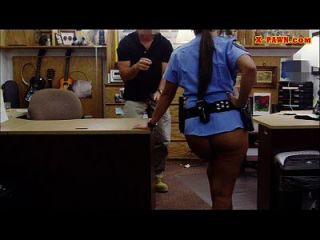 Massive Tits Police Officer Pawns Her Vagina And Screwed