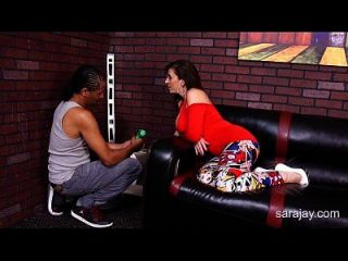 Sara Jay Screws The Handymans Black Cock!