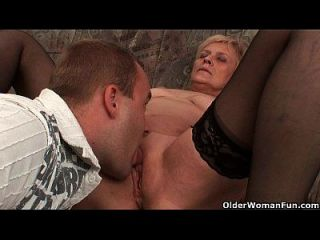 Using A Mature Mom To Empty Your Balls