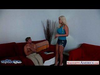 Horny Blonde Bridgette B. Fucking Her Neighbor