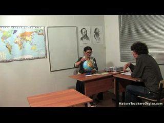 Russian Mature Teacher 5 - Irina (geography Lesson)