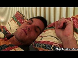 Motherinlaw Swallows His Cock As He Sleeps