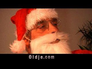 Old Santa Punishes A Nasty Girl
