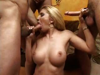 Busty Blonde Collects Creamy Cum In Her Mouth