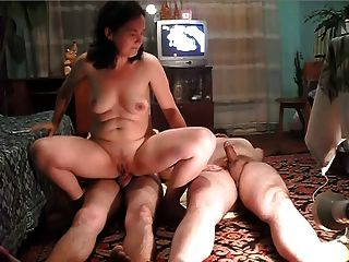 Wife Fucks Her Husband And His Friend (no Sound)