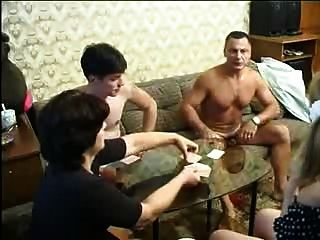 Russian Old And Young Couples Swinger Game