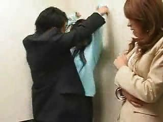 Asian Gangbang In A Elevator