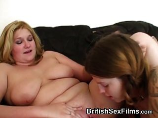 Amateur Pregnant Woman With An Older Chubby Mature Woman