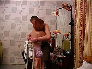 Redhead Russian Mom & Son