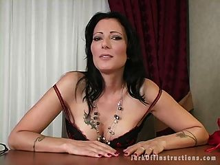 Hot Milf Boss Makes You Stroke Your Cock As She Watches
