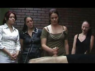 Jerky Office Girls - Cfnm Handjob