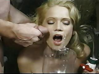 Bukkake With Cum Bong Finale - She Swallows It All