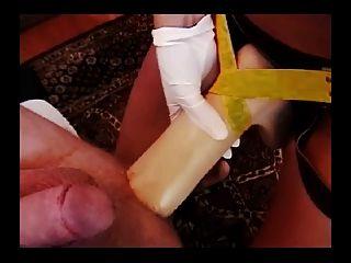 Greman Mistress Lisa Berlin Fucks Slave With A Bull Strap On