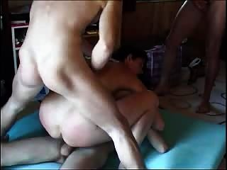 Russian Mature Having Sex With 3 Guys