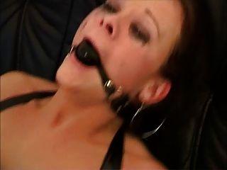 Danish Hottie Anal Sodomized With Ballgag And Latex