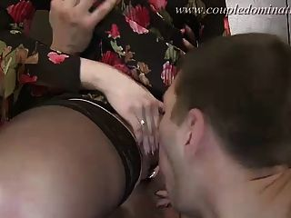 Sexy Slave Gets Salad Tossed And Eats Muck Handled By A Love