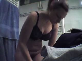 Hot Girl With Big Natural Boobs Fresh Out Of The Shower