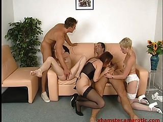 Groupsex With 3 Women In Lingerie