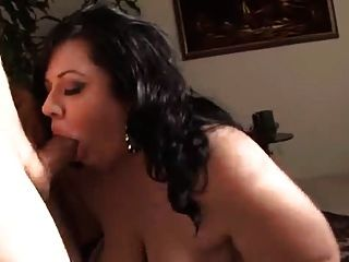 Brunette Bbw With Buddha-belly & Huge Hangers In Action