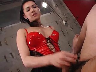 Beautiful Asian Dominatrix Strapon Fucks Dude