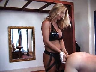 Hard German Mistress Trains Slaves With Horse Dildo Strap-on