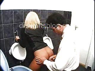 Gabriella Fucking With A Stranger In Public Bathroom