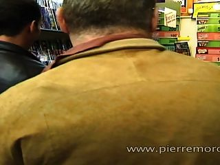 Two French Fat Moms Doing Foursome In A Shop